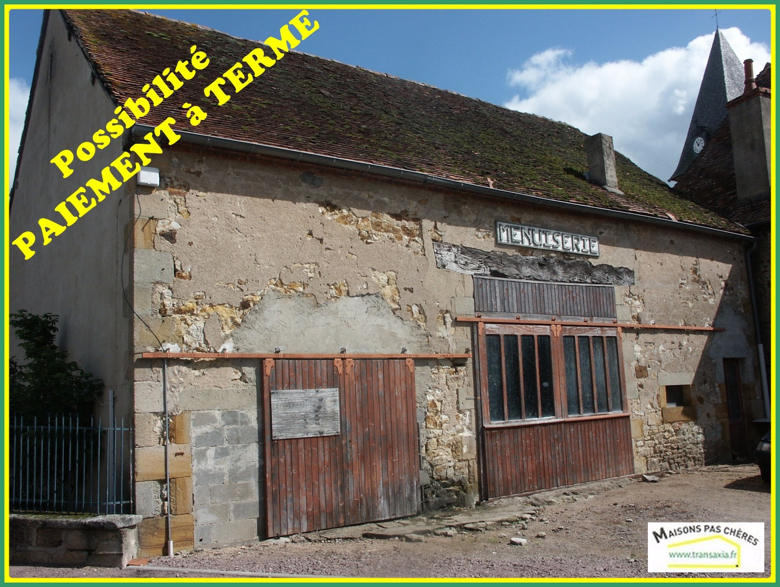 Vente garage parking montlu on 03100 sur le partenaire for Vente garage parking angers